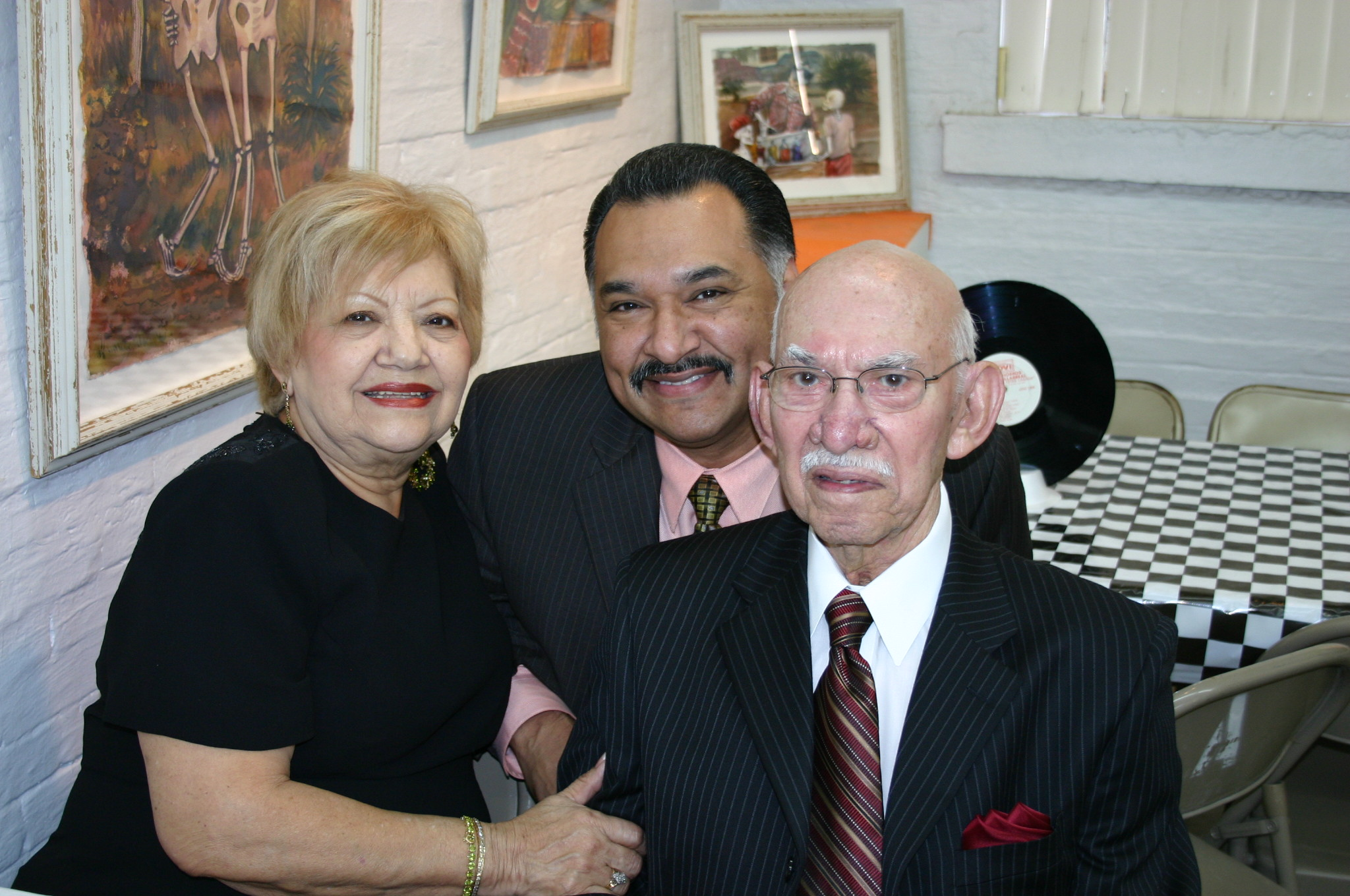 Odilia, Arnaldo, and Agapito Zuniga at Hall of Fame