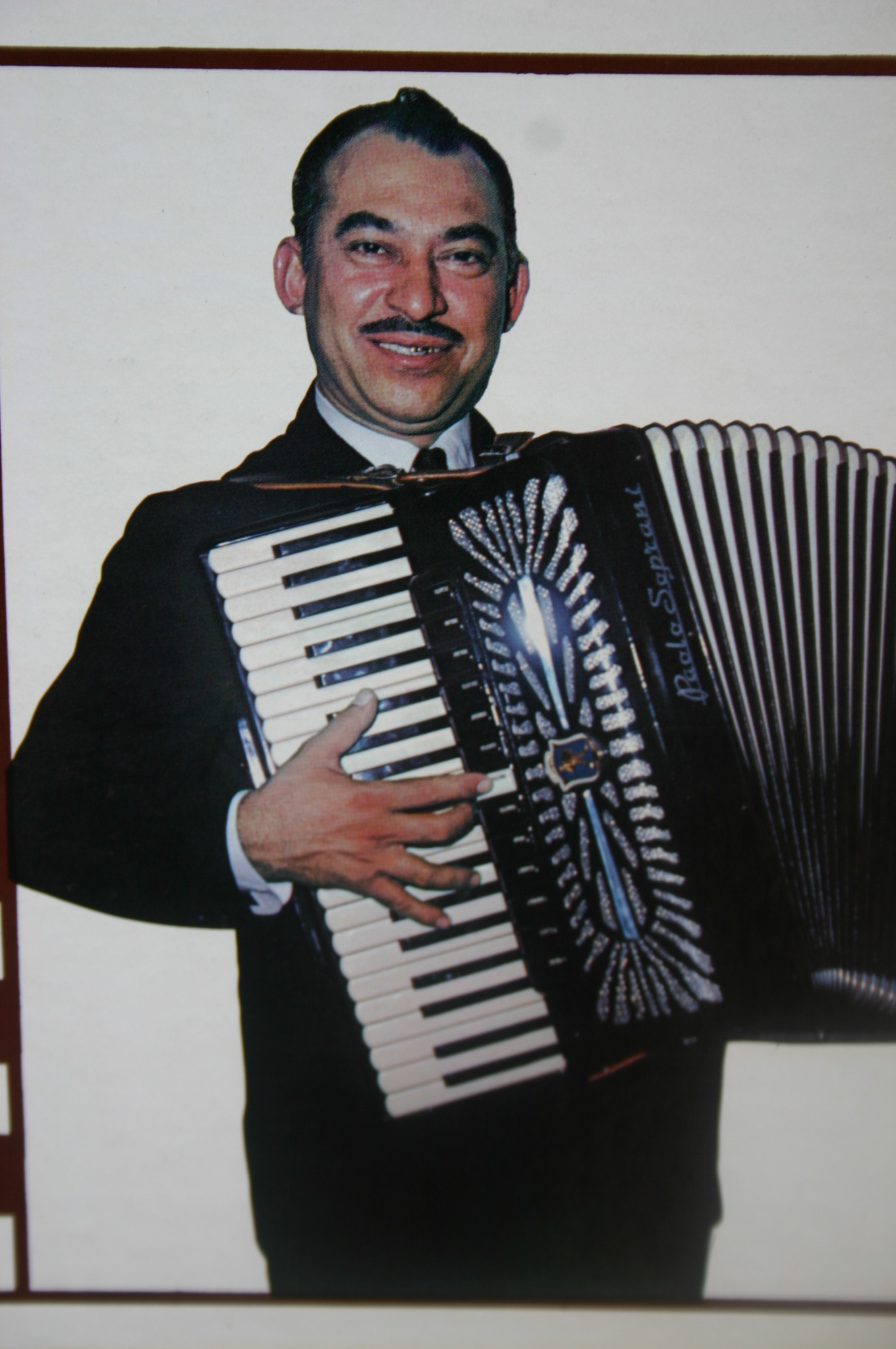 Agapito Zuniga with key accordion