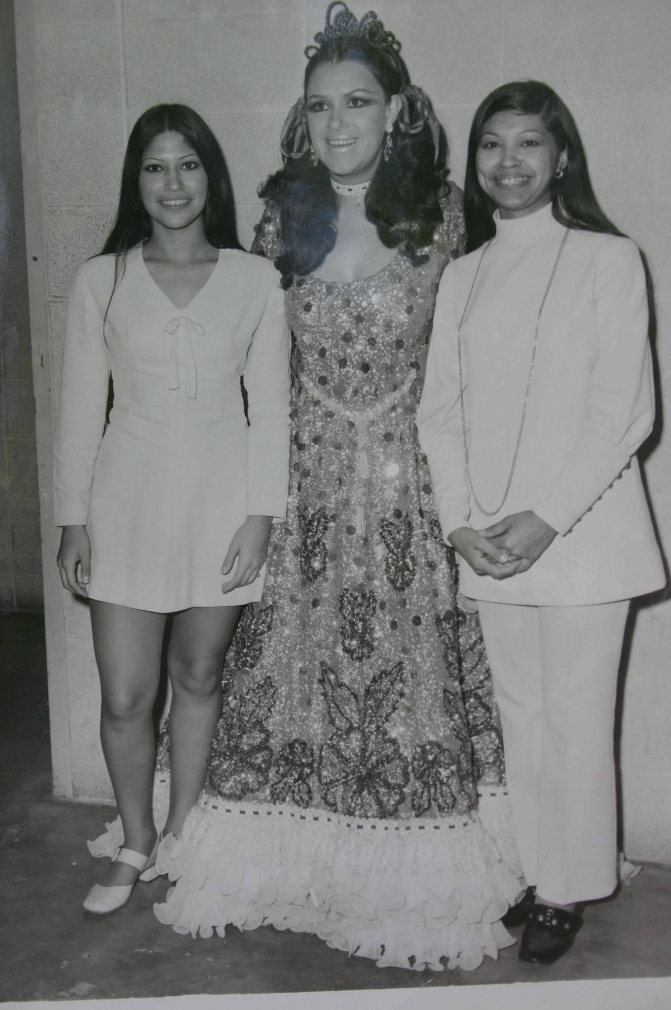 Sylvia and Ludi with Lucha Villa!  (Circa 1970s)