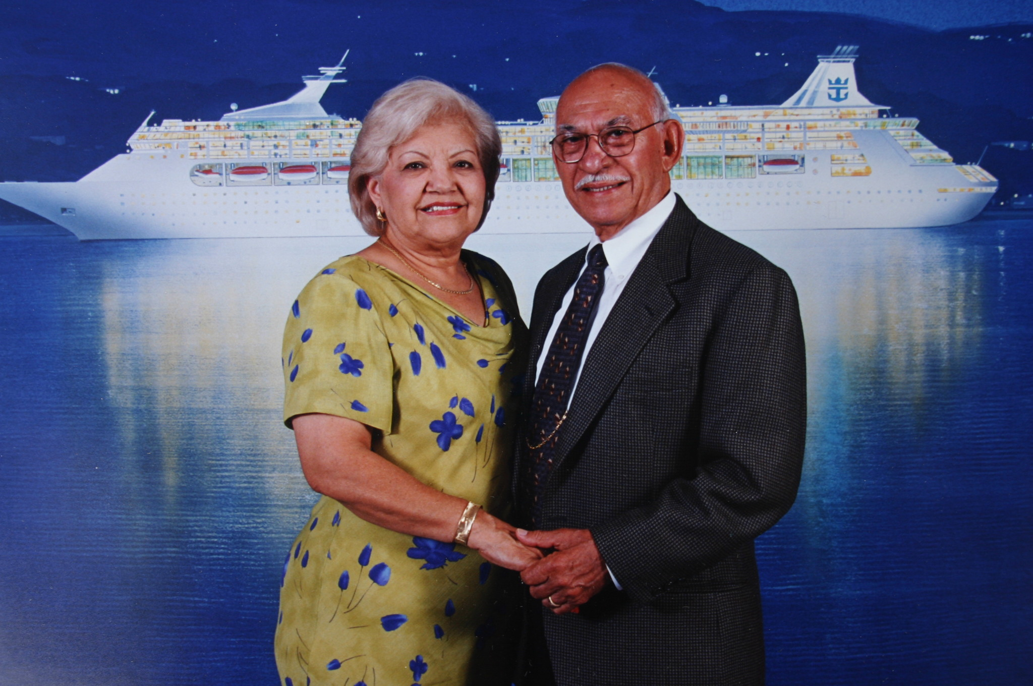 Agapito & Odilia on a Hawaiin cruise (1999)