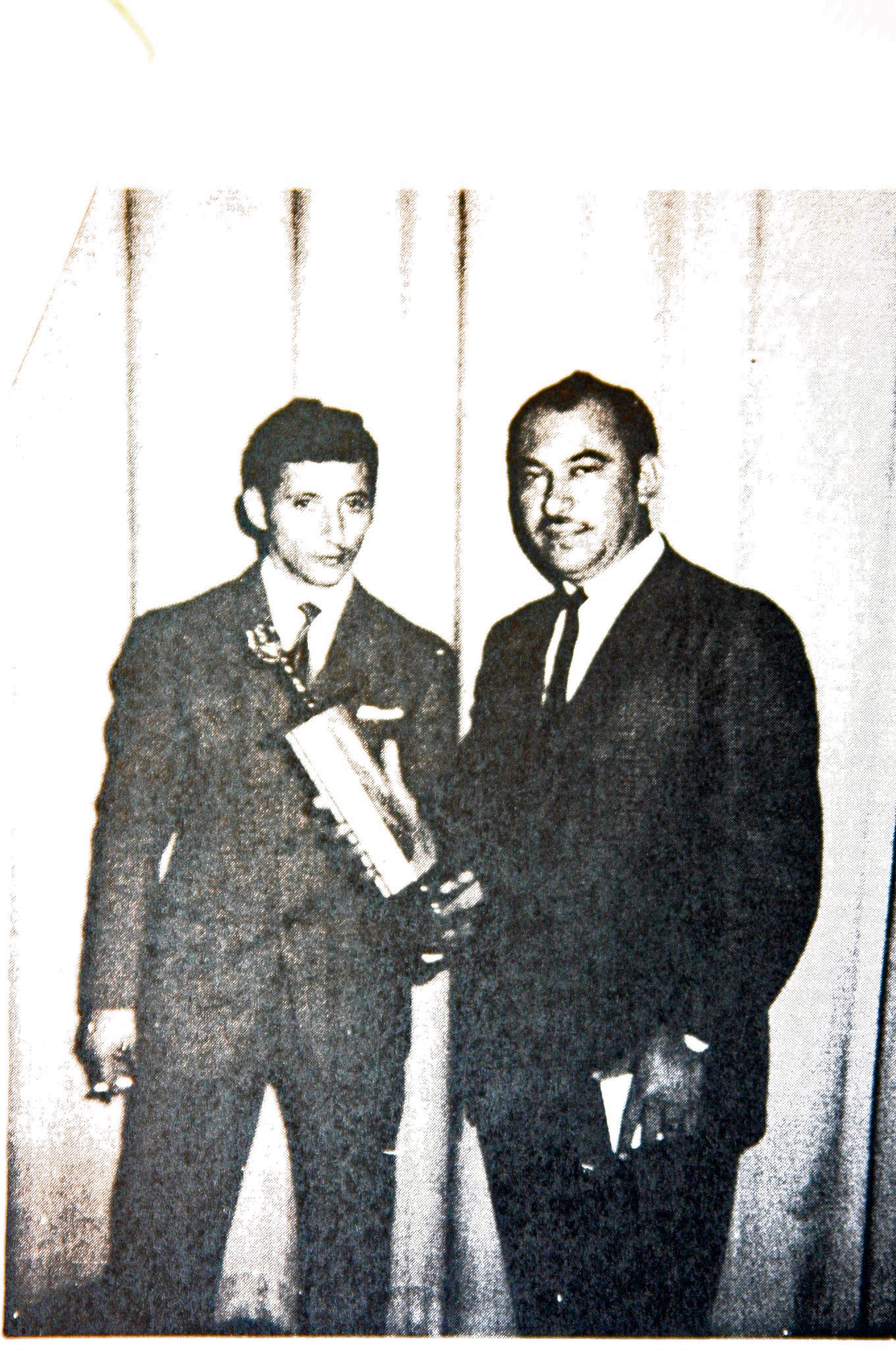 Agapito with his second trophy (San Jose, CA, 1966)