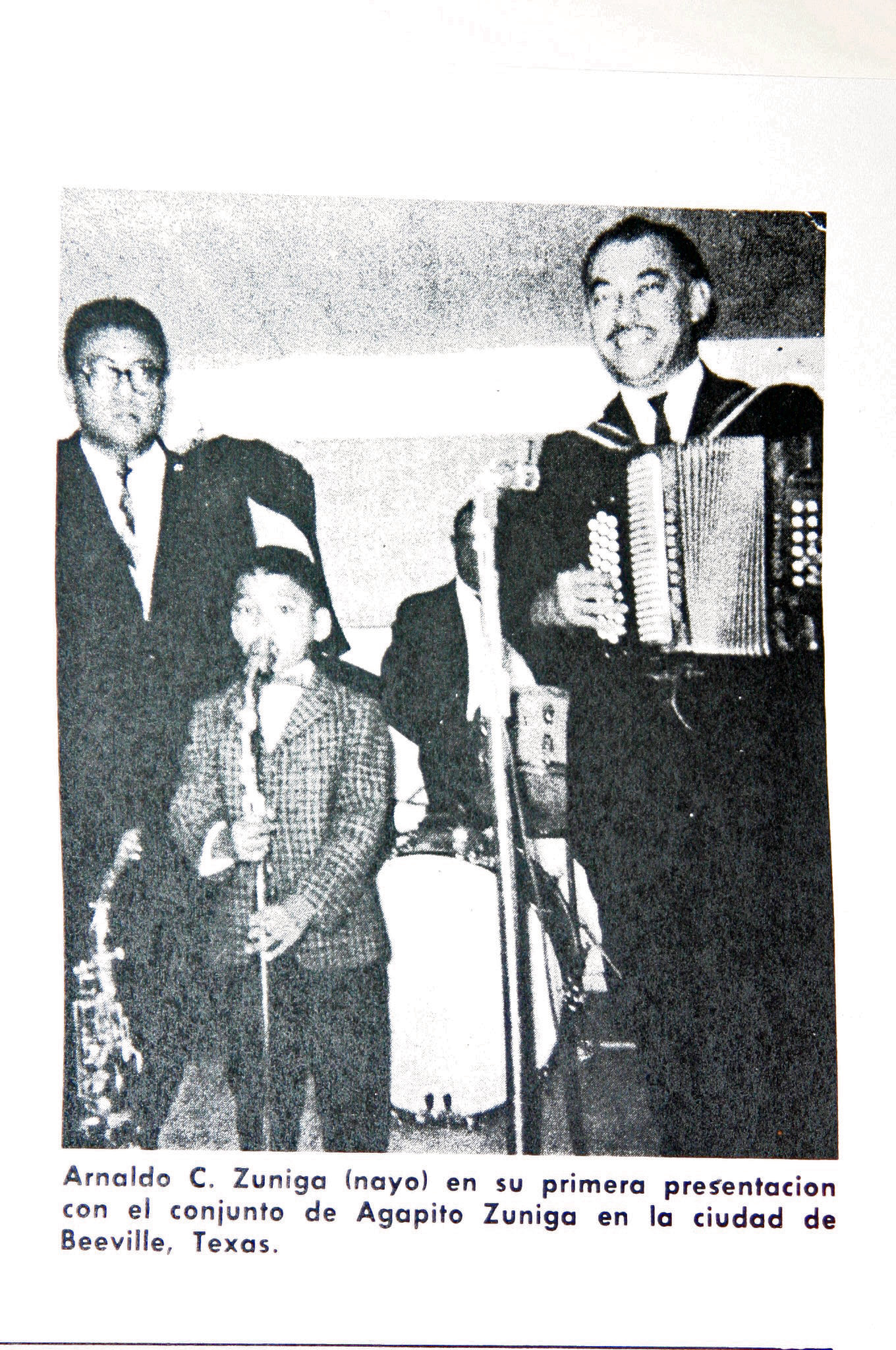 "Arnaldo ""Nayo"" Zuniga at his initial debut with his dad, Agapito"