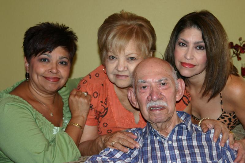 Agapito with the girls of his life: Wife and daughters