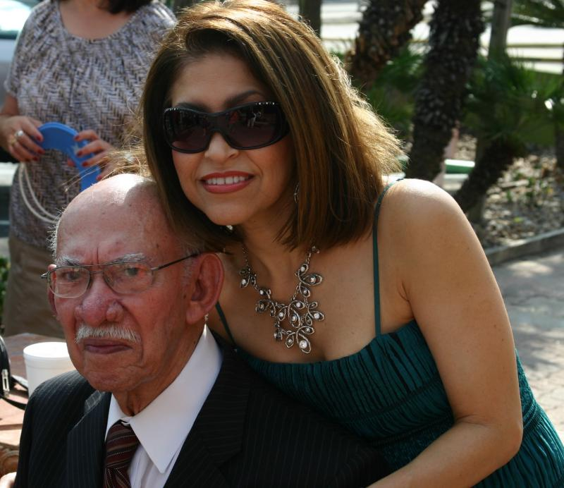 Agapito with daughter, Sylvia