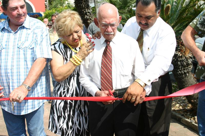 Agapito at the Ribbon-cutting ceremony