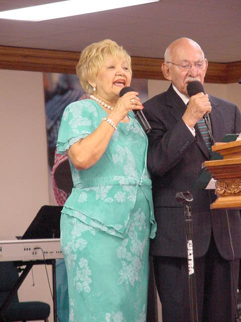 Agapito & Odilia singing at The Lord is Peace Worship Center
